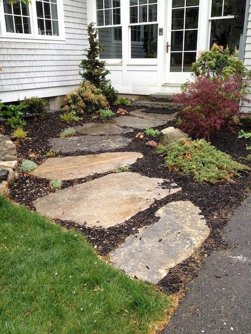 51 simple and beautiful front yard pathways landscaping on extraordinary garden stone pathway ideas to copy id=37191