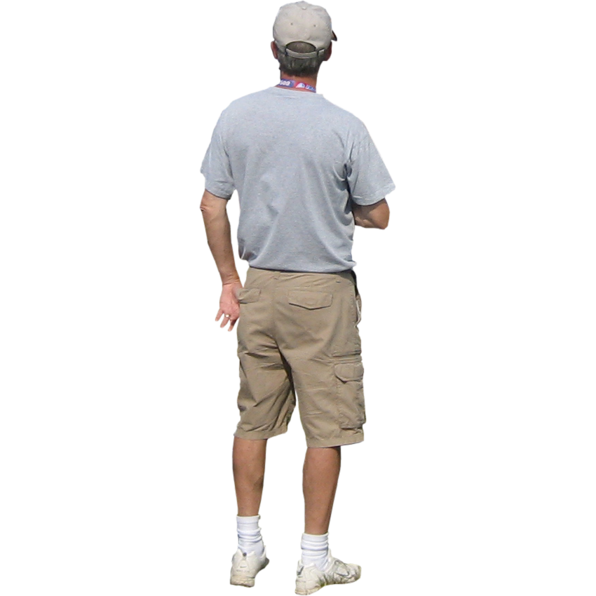 Man In Cargo Shorts And White Shoes Png 850 850 Render People Cargo Shorts Man