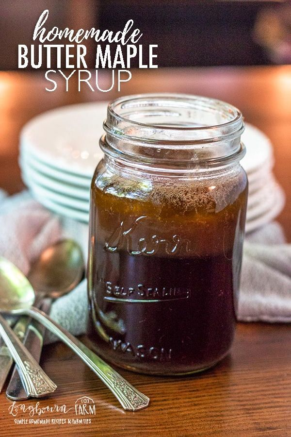 Butter Maple Syrup • Longbourn Farm