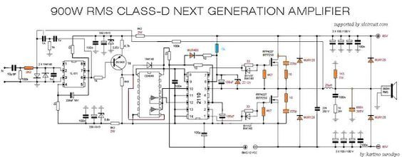 Amplifiers Circuit Diagram | 900w Class D Next Generation Power Amplifier In 2019 Jims