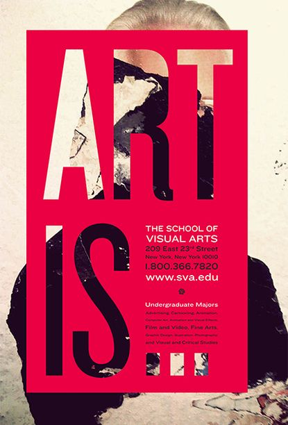 School Of Visual Arts Poster Cool Idea Poster Design Layout Graphic Design Inspiration Graphic Design Posters