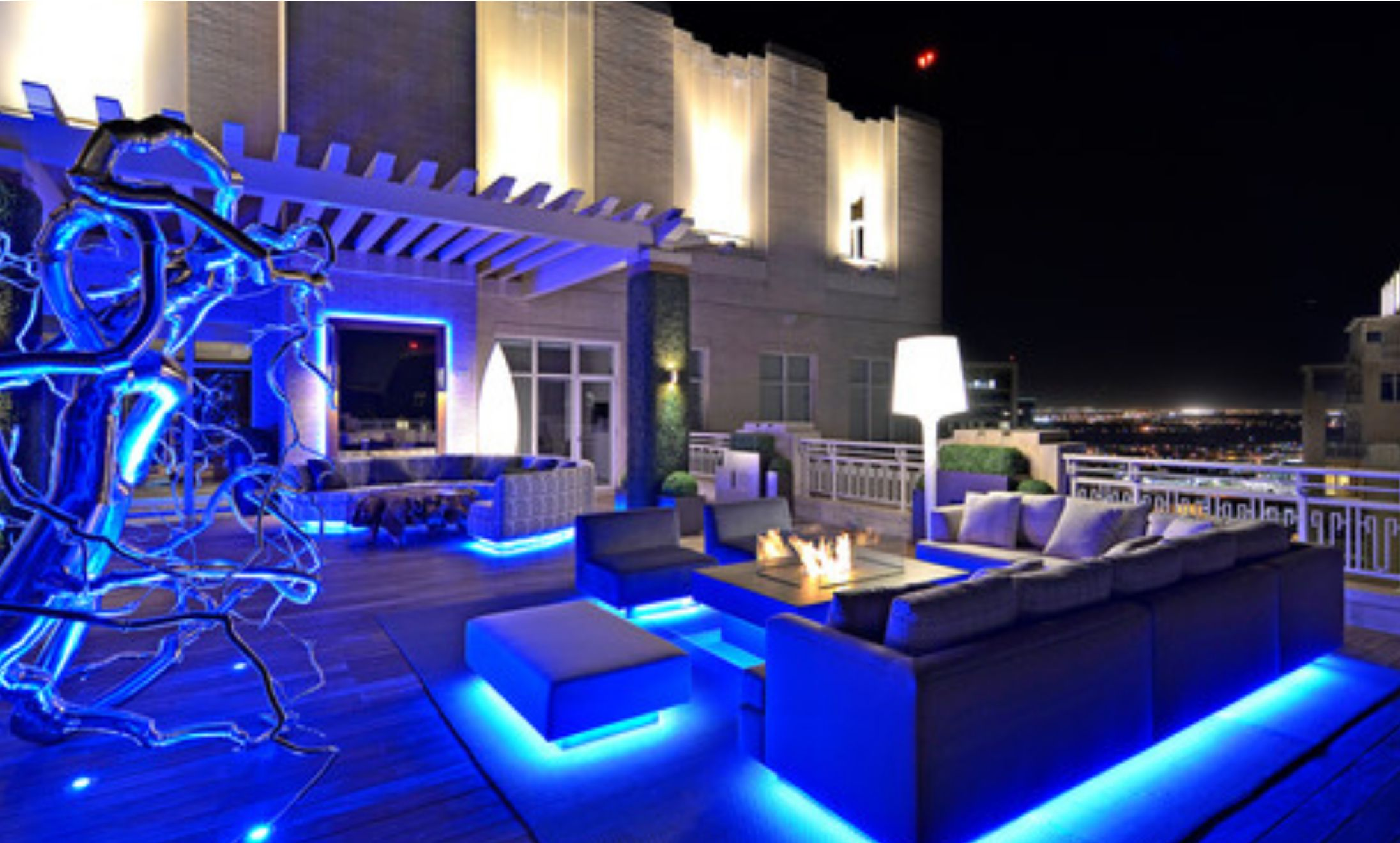Led Lighting Outdoors Under The Sky Outdoor Deck