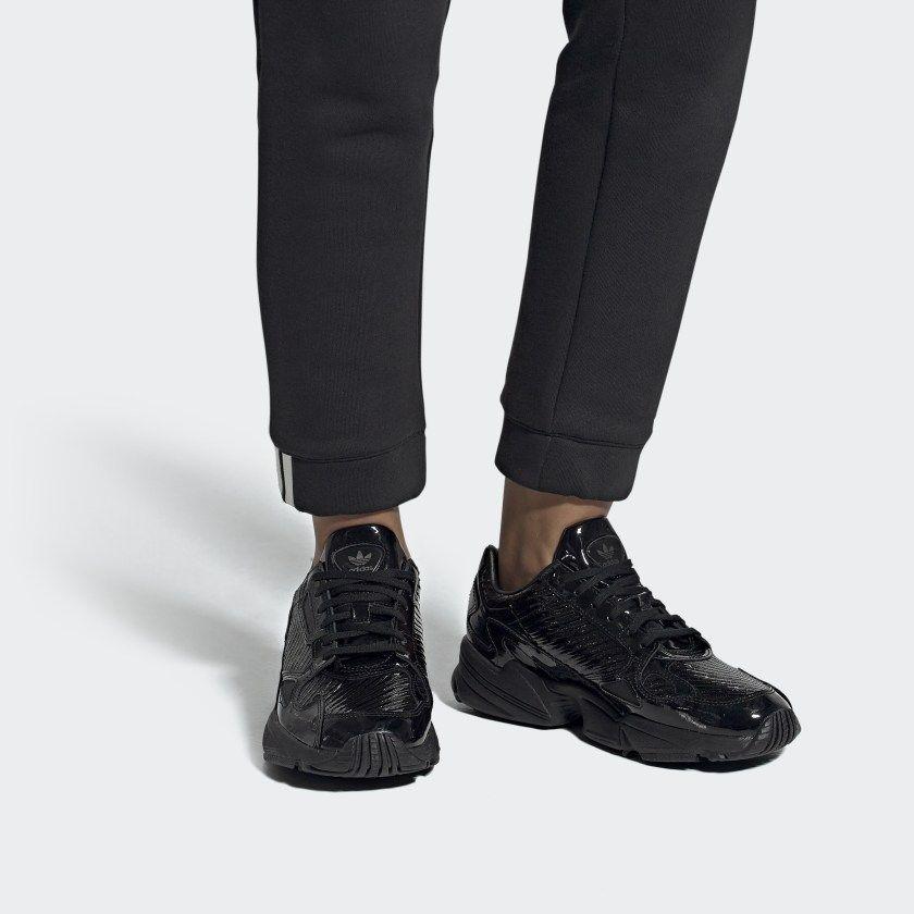 Falcon Shoes Core Black / Core Black / Collegiate Purple ...