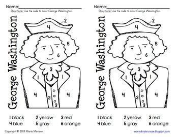 Color by Number Washington | January | Pinterest | Didactico y Escuela