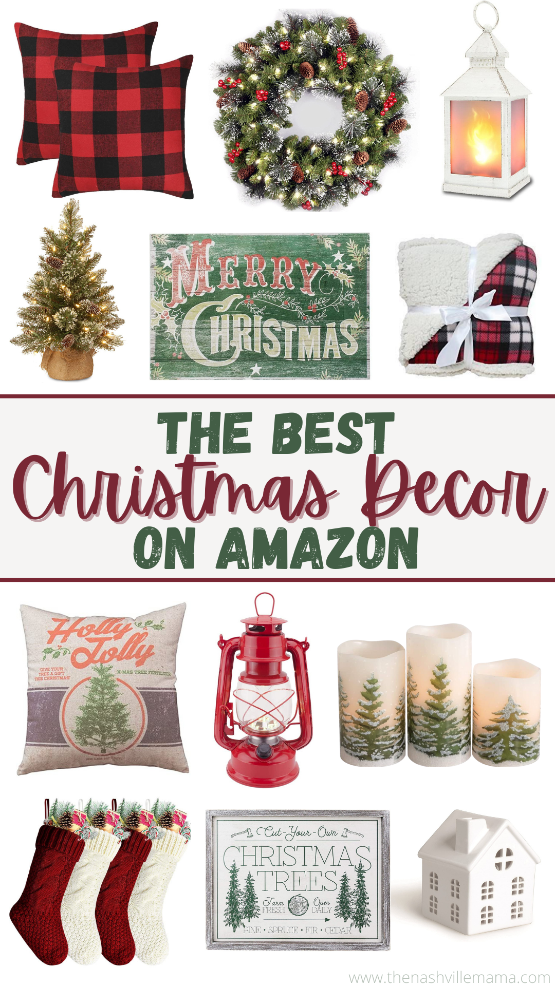 The Best Selection Of Christmas Decor On Amazon In 2020 Affordable Christmas Decorations Christmas Decorations Rustic Christmas