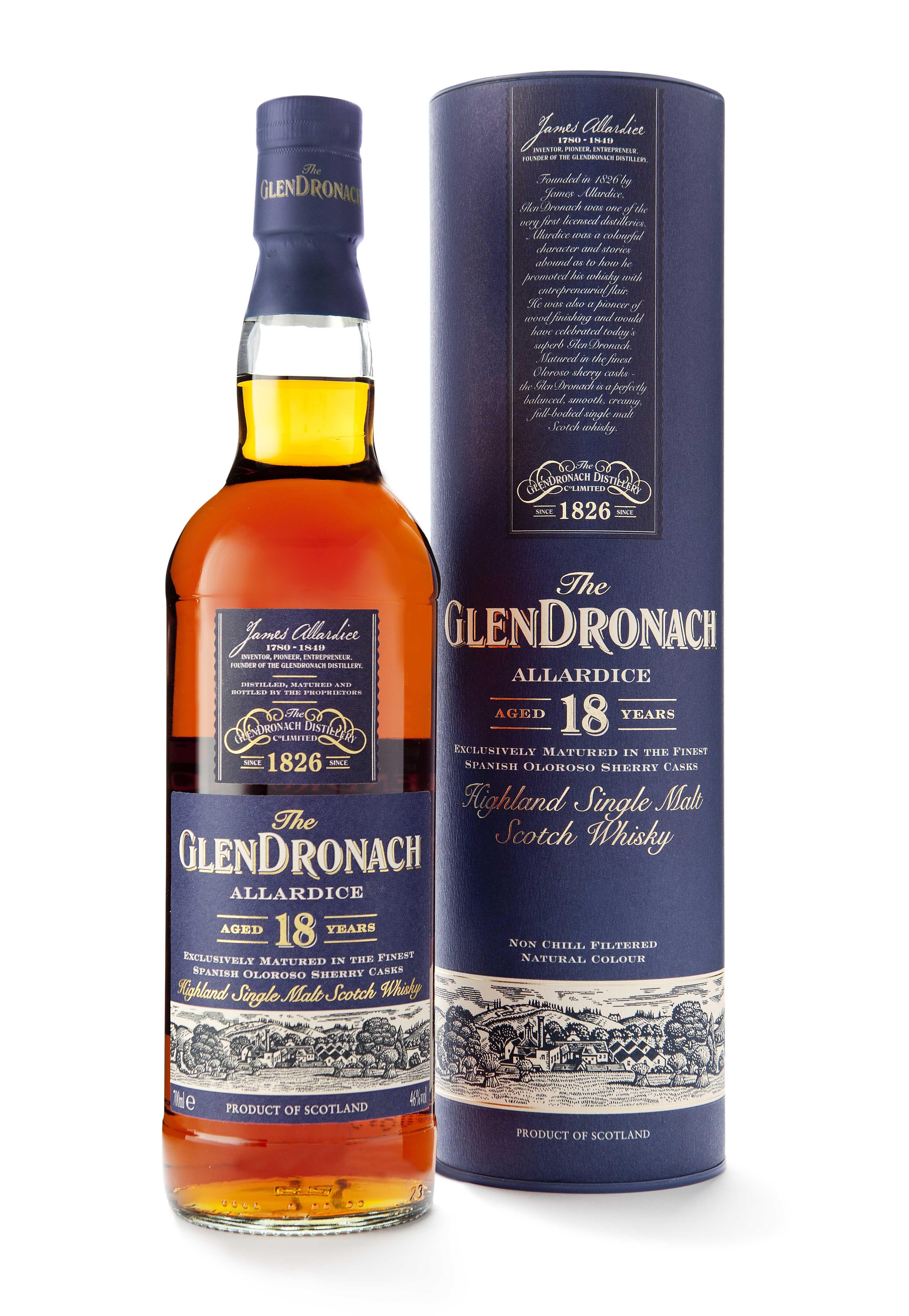 f88b80ecd19 ... malt   blended bottles of scotch whisky. GlenDronach 18YO Allardice -  This sounds fascinating. I would love a bottle.