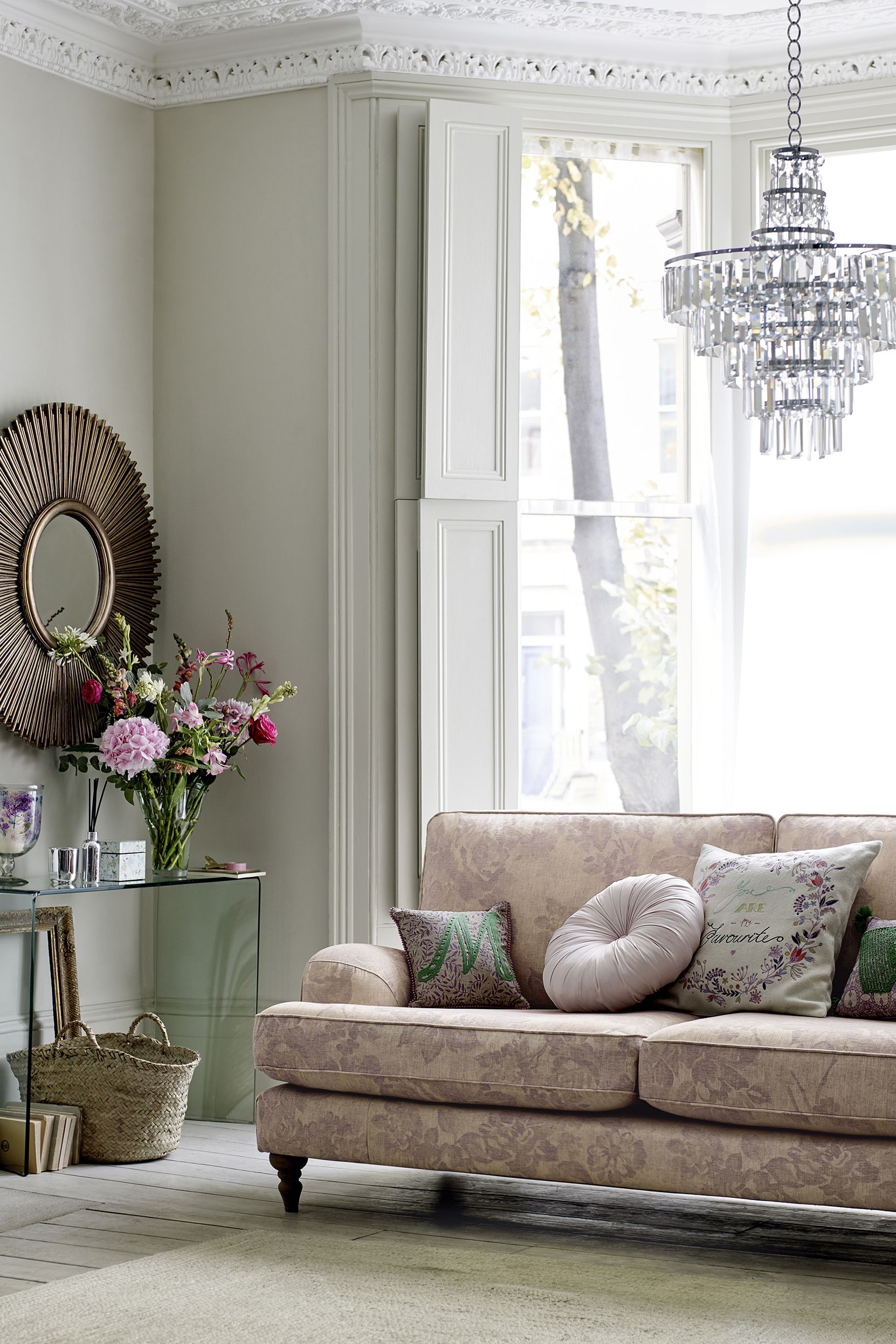 Opt For A Floral Patterned Sofa And Cushions In Your Living Room Nod To