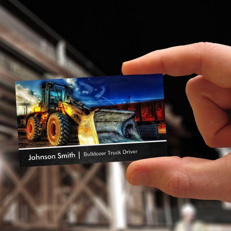 Bulldozer Excavator - Construction Truck Driver Business Cards ...