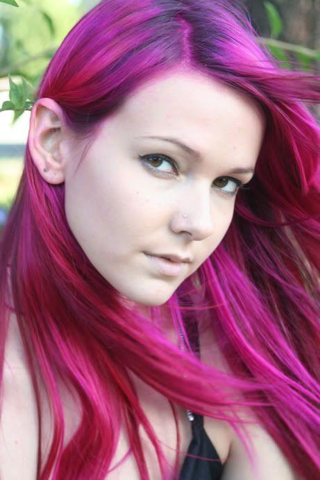 from black to pink elumen haarfarbe rosa lila haare und haarfarben