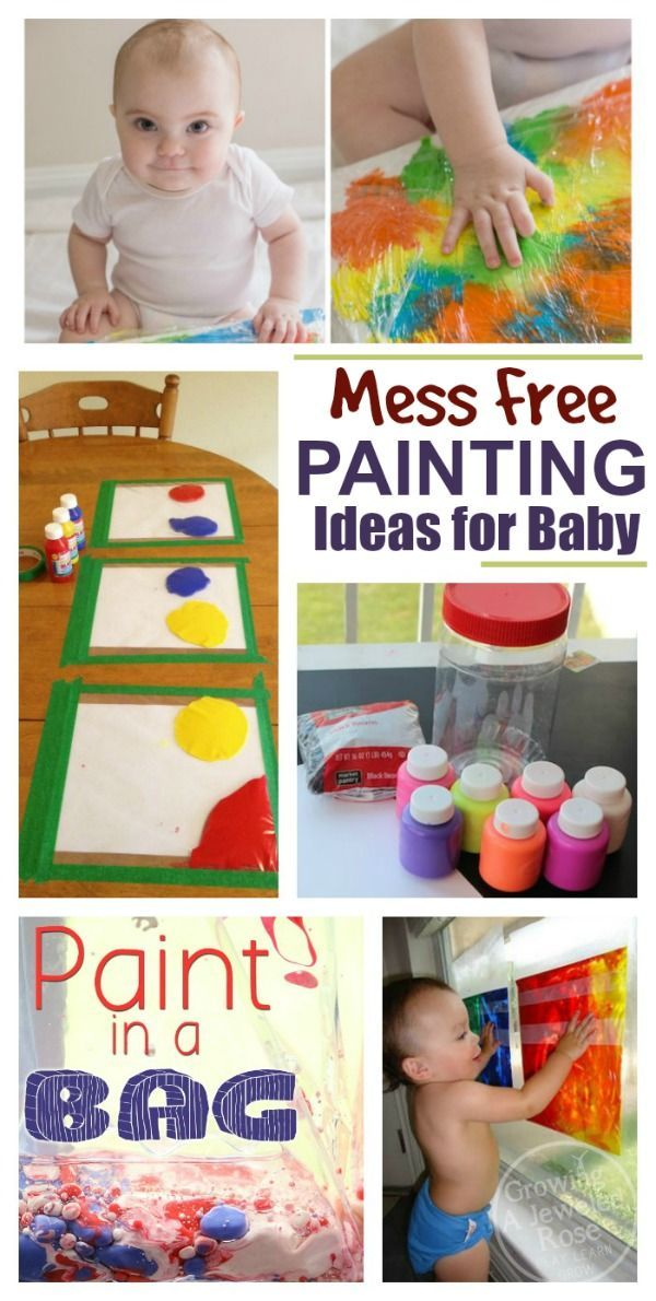 Paint Recipes & Art Activities 20+ paint recipes & art activities for babies & toddlers.  I love the MESS FREE art ideas!  {Taste safe recipes}20+ paint recipes & art activities for babies & toddlers.  I love the MESS FREE art ideas!  {Taste safe recipes}
