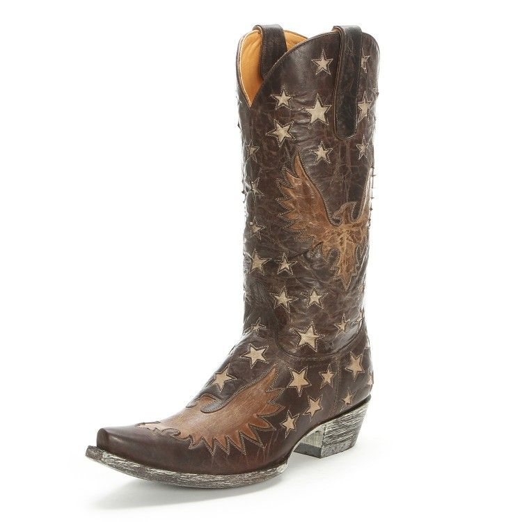 Old Gringo Star Pointed Toe Chocolate Cowgirl Boots