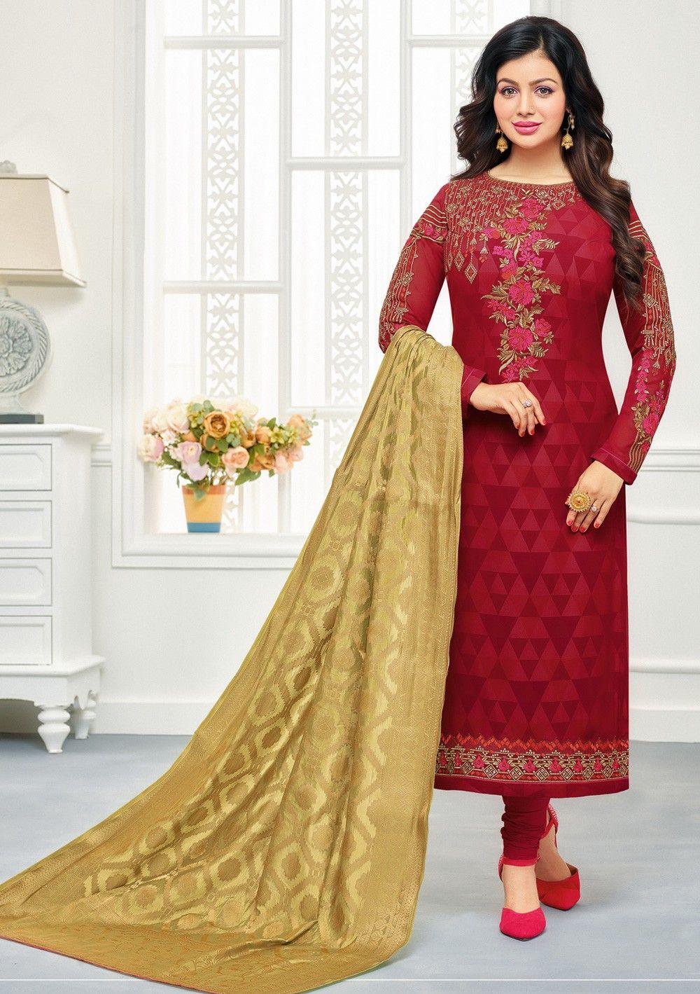 c0b475605d HD Images Of Ayesha Takia In Beautiful Latest Salwar Kameez Designs 2018  Straight Cut