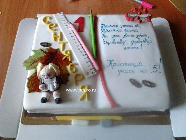 Торт учебник и первоклашка