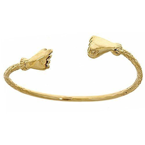 10k Yellow Gold Baby West Indian Bangle W Fist Ends West Indian Bangles Bangles Indian Baby Bangles