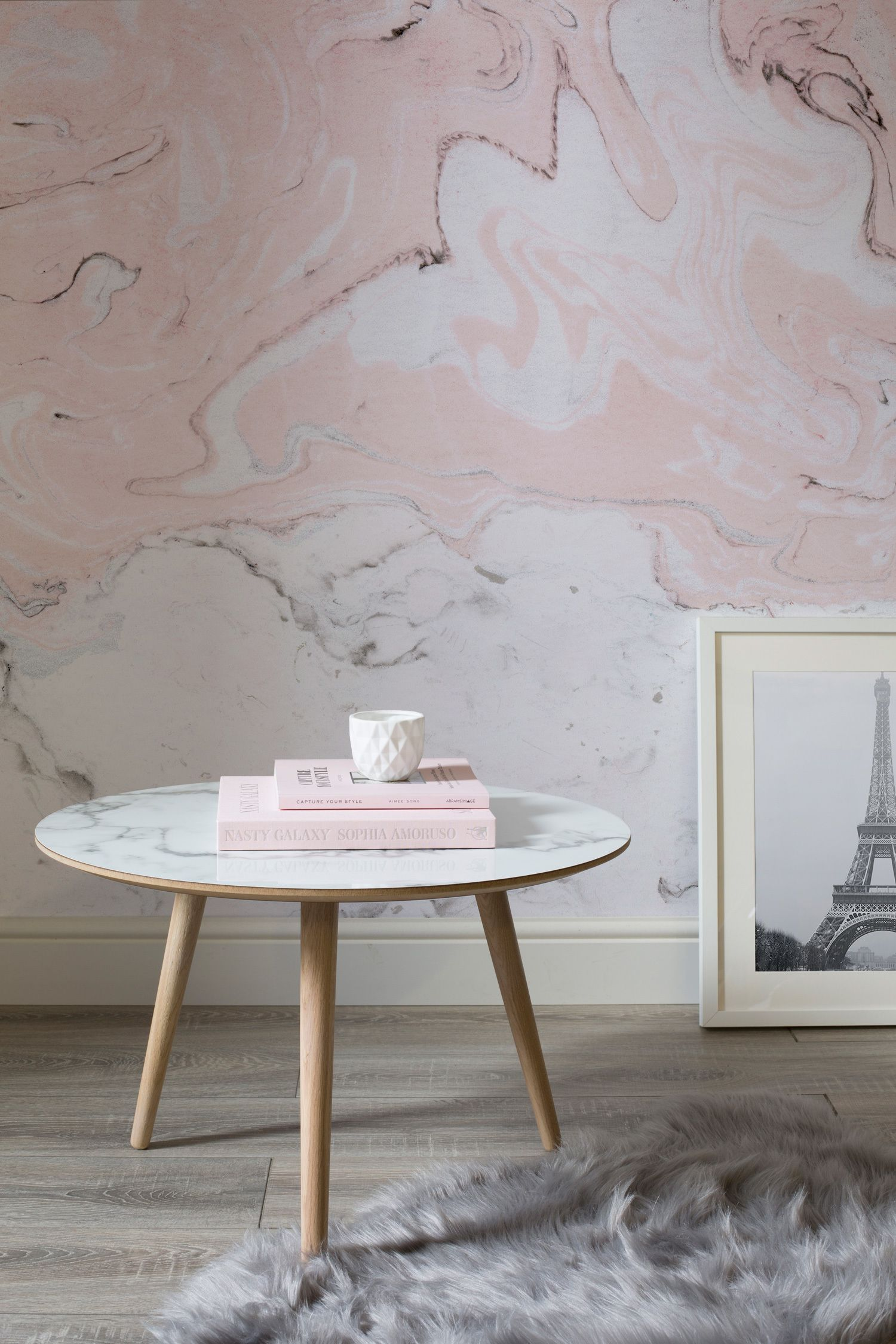 Pink and White Marble Wallpaper | MuralsWallpaper ...