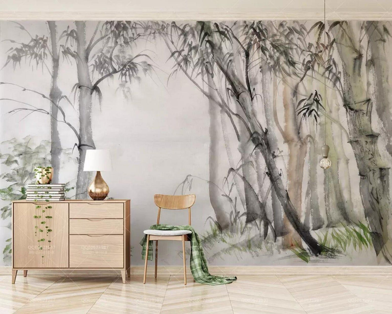 3d Chinese Painting Bamboo Forest Wallpaper Removable Self Adhesive Wallpaper Wall Mural Vintage Art Peel And Stick Forest Wallpaper Mural Wallpaper Forest Wall Mural
