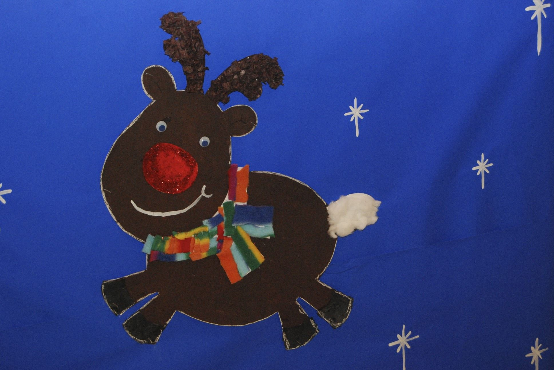 Rudolph made with several different craft techniques - the little kids loved making these!