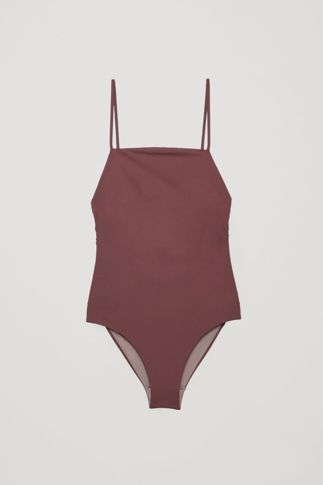 d7f0aa03f86 CROSSOVER SQUARE-NECK SWIMSUIT - Burgundy - Swimwear - COS | Wants ...