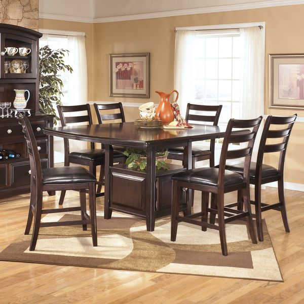 Signature Design By Ashley Ridgley Square Dark Brown Dining Room