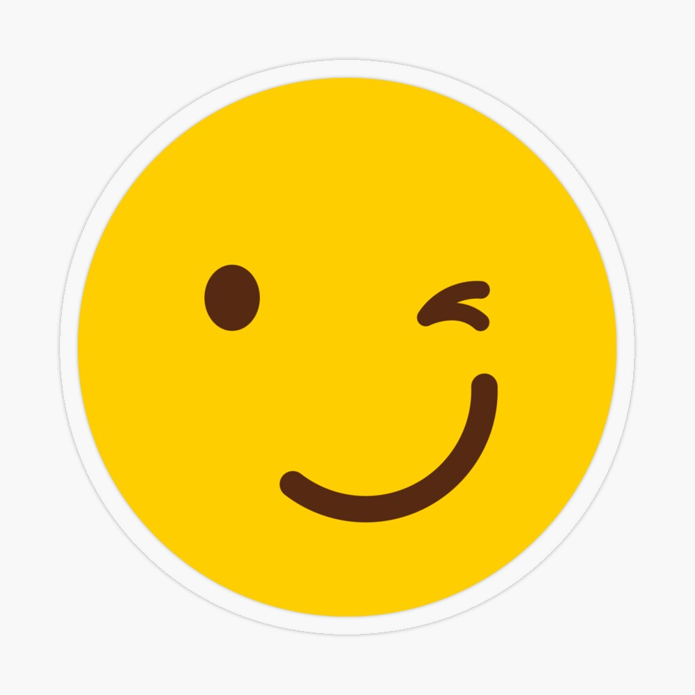Winky Face Gift Yellow Wink Wink Face By Tis Noow Redbubble Winky Face Face Gift Winking Face
