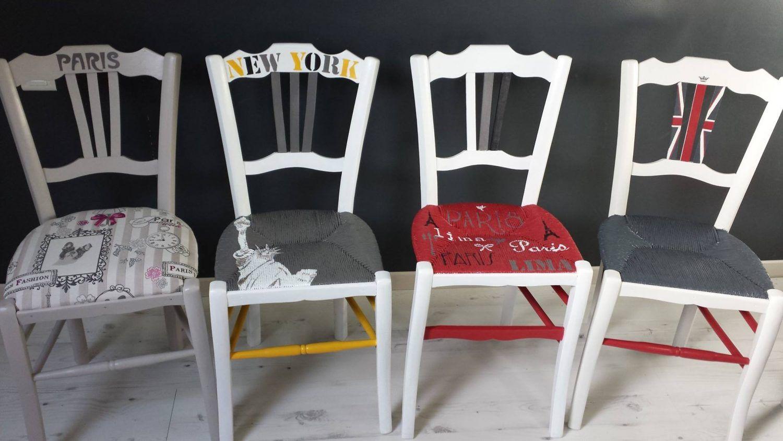 Peindre Le Rotin L Osier Ou La Paille D Une Chaise Eleonore Deco Relooking De Chaise Chaise Paille Eleonore Deco