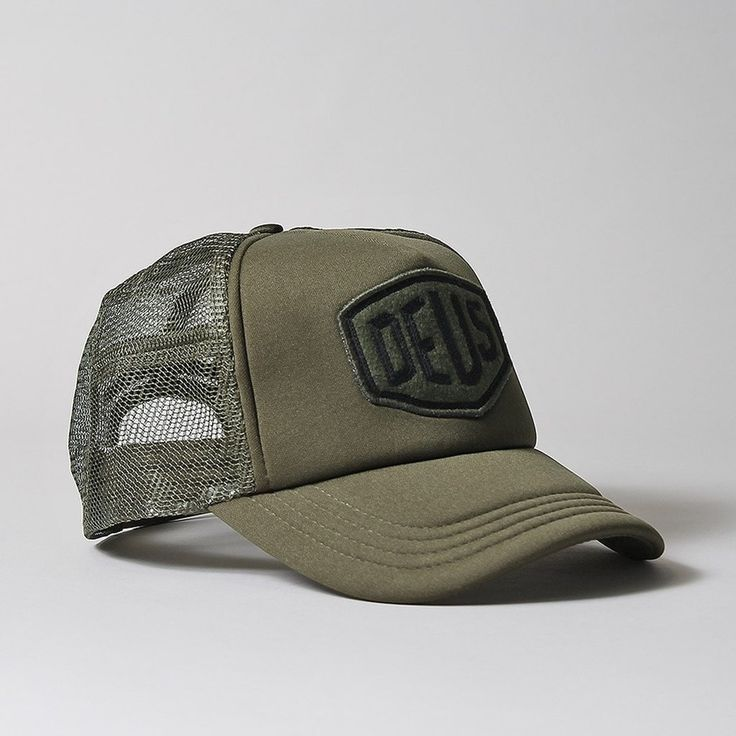 Deus Ex Machina Felt Shield Trucker Cap Mens Fashion Casual Wear Mens Caps Trucker Cap