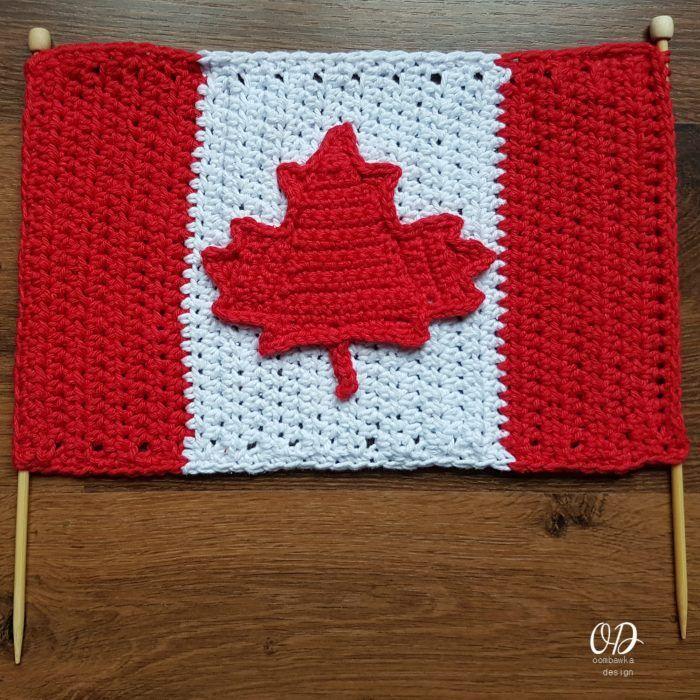 Canada Day Crochet - Canadian Flag Free Crochet Pattern | Vías y Free