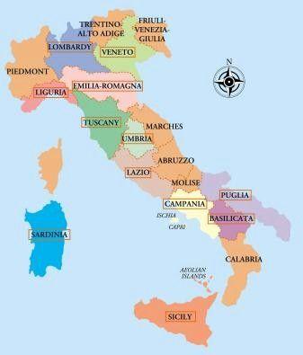 Regional 20map 20of 20italy Jpg 337 395 Pixels Italy Map Italy