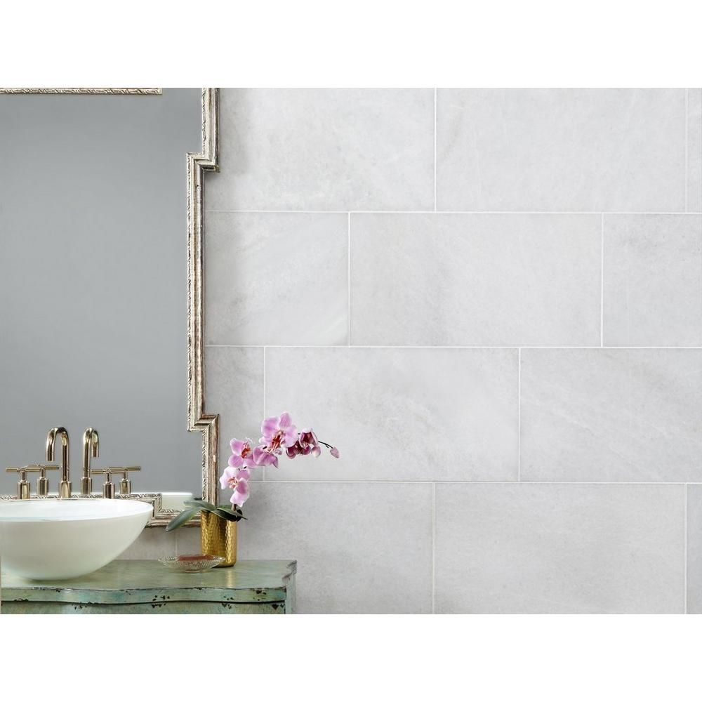 Bianco Neve Polished Marble Tile Floor Decor In 2020 Polished Marble Tiles Honed Marble Tiles Marble Tile