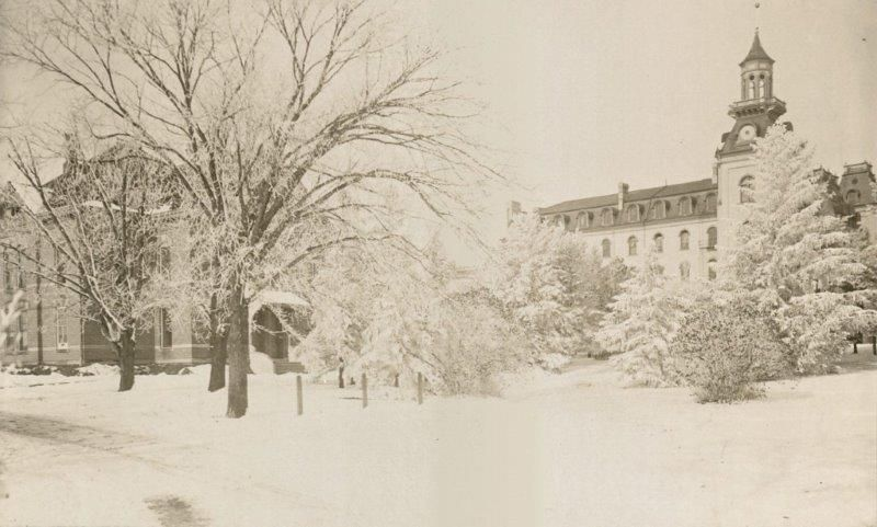 1899 Snow Photo Of Iowa State University Campus Ames Ia Posted