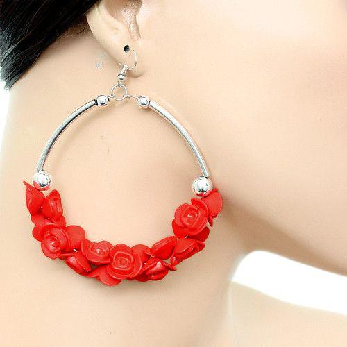 Alloy Drop Dangle Flowers Plants Plastic Fashion Earrings Ebay