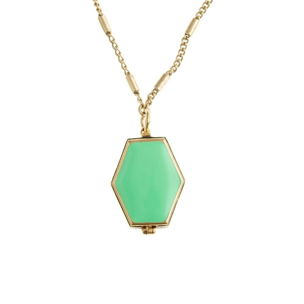 Enamel locket necklace jew where my retirement fund went