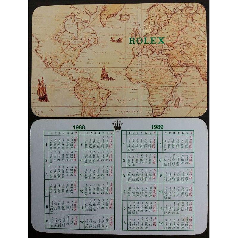 Rolex 1988 1989 Vintage Pocket Calendar Milgauss Daytona Explorer