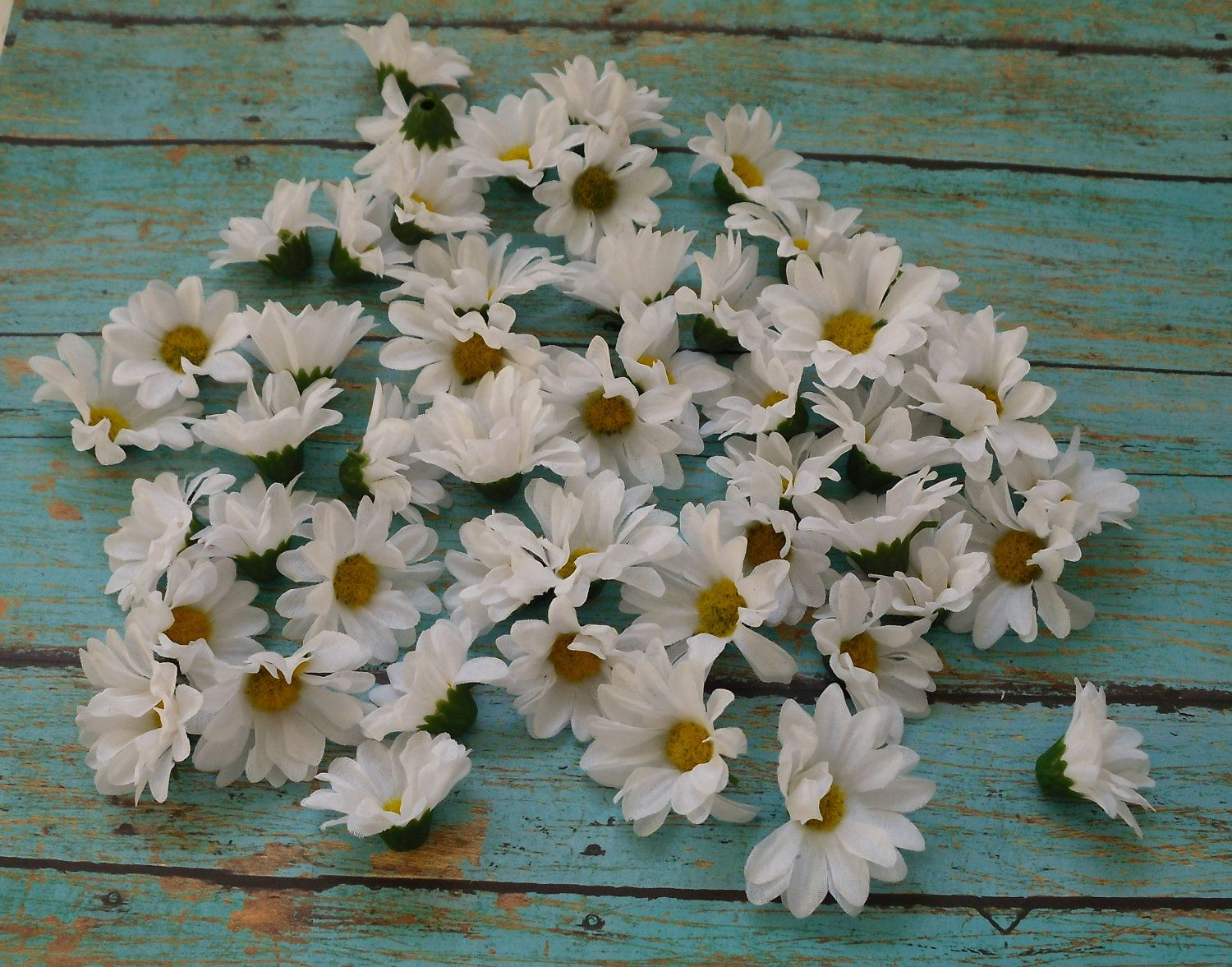 50 small white artificial daisies budget artificial flowers silk silk flowers 50 small artificial daisies in by blissfulsilks 499 mightylinksfo