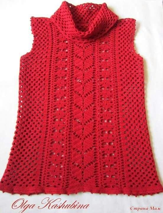 4-4 blusa cuello tortuga   2 Patrones crochet ropa adulto   Pinterest