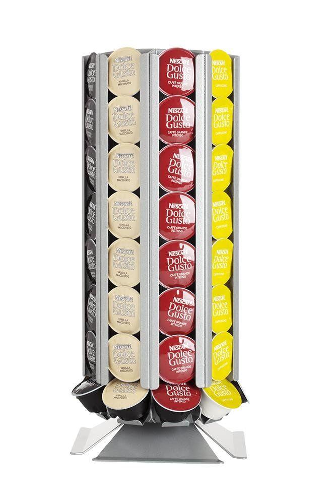 Porte capsules distributeur de capsules coffeetower dg72 argentin pour des capsules dolce gusto - Porte capsules dolce gusto ...