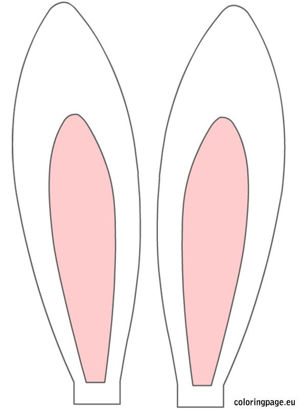 Easter Rabbit Ears Coloring Page Easter Bunny Ears Easter Bunny Crafts Easter Bunny Template