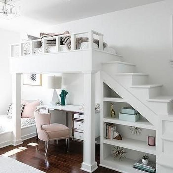 49 Unique Bunk Bed Design Ideas | Girls bedroom with loft bed