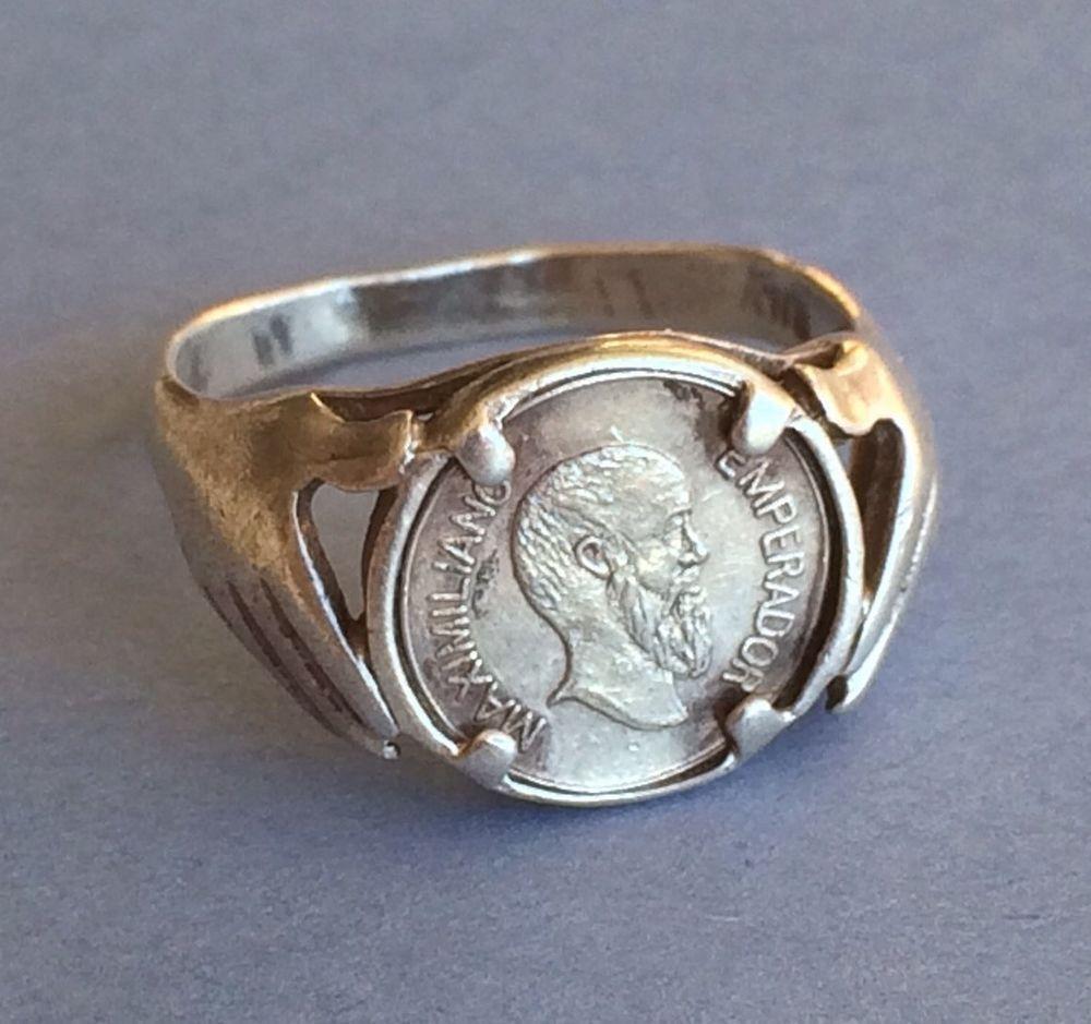 Vintage Maximiliano Emperador Coin Ring | ✽ Support Small ...