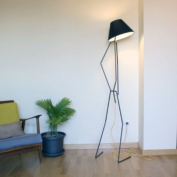 Meon l mpara de pie muebles y decoraci n pinterest - Estructuras para lamparas ...