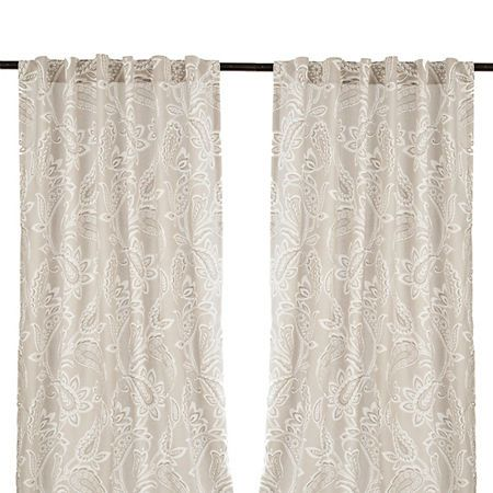 Gray Simone Curtain Panel Set 96 In