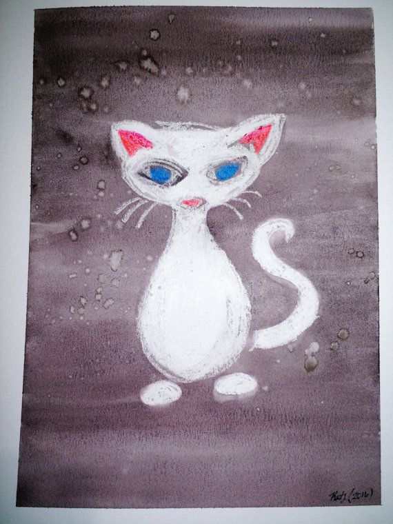 White wax watercolor resist.  approximate size 9x12  You will get the original…