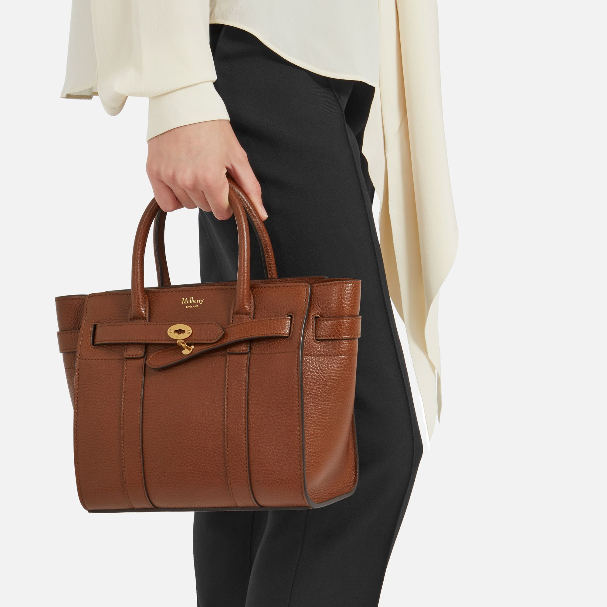 912e72a153 Shop the Oak Leather Mini Zipped Bayswater on Mulberry.com. A new arrival  for