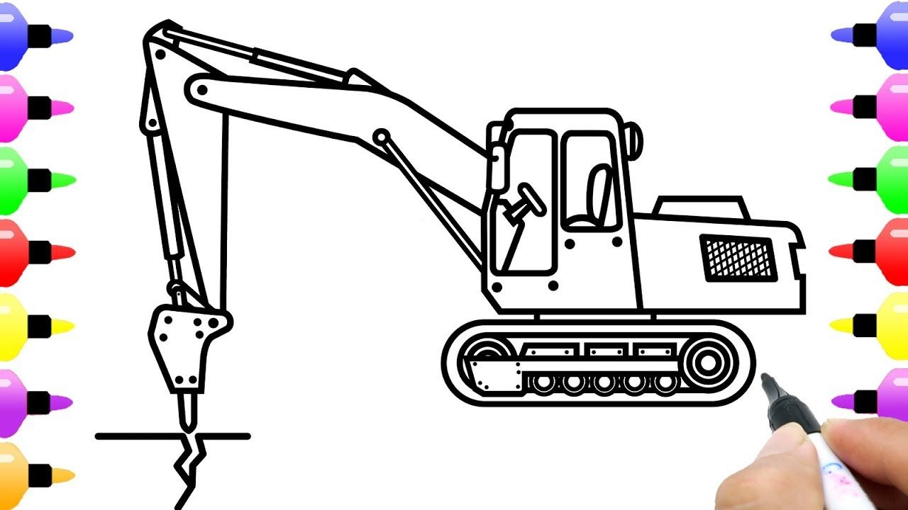 How To Draw Broken Crusher Truck For Kids Coloring Page Of Truck