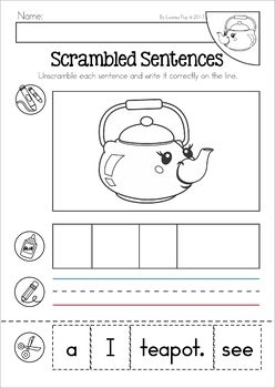 I M A Little Teapot Nursery Rhyme Worksheets And Activities