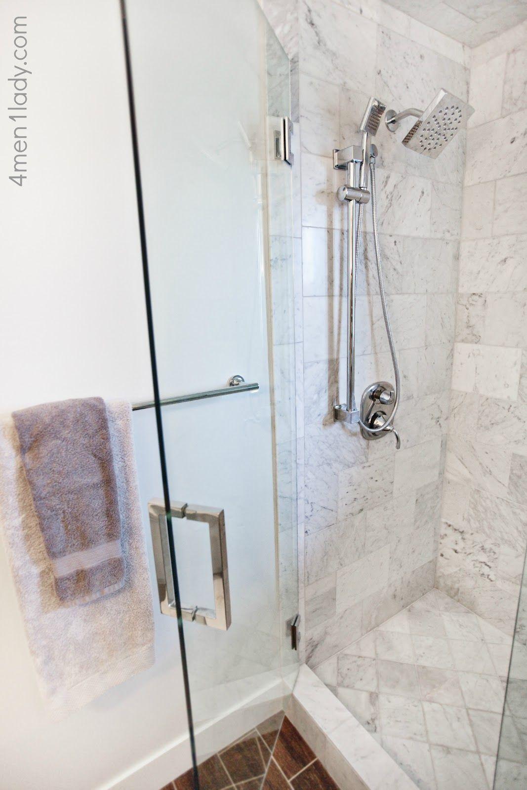 Shower tile: Honed carerra: Home Depot Shower faucet: Moen 4Men ...
