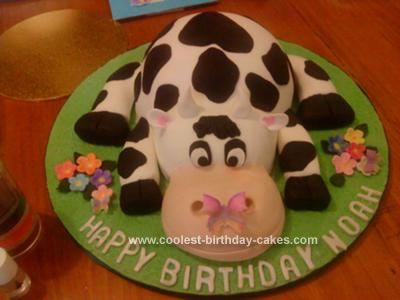 how to make a cow from fondant