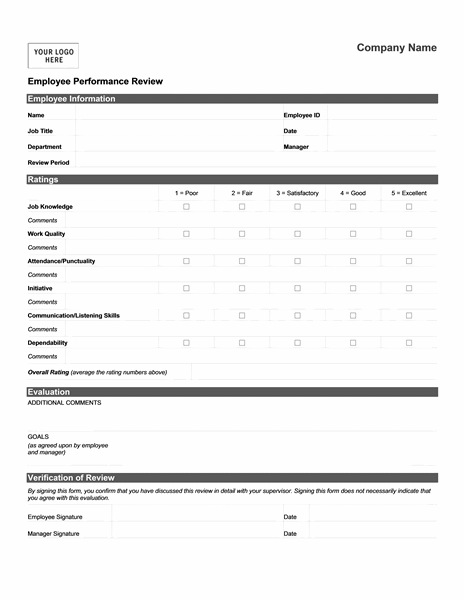 Employee performance review form short templates evaluation also free forms printable google search baja sun rh pinterest