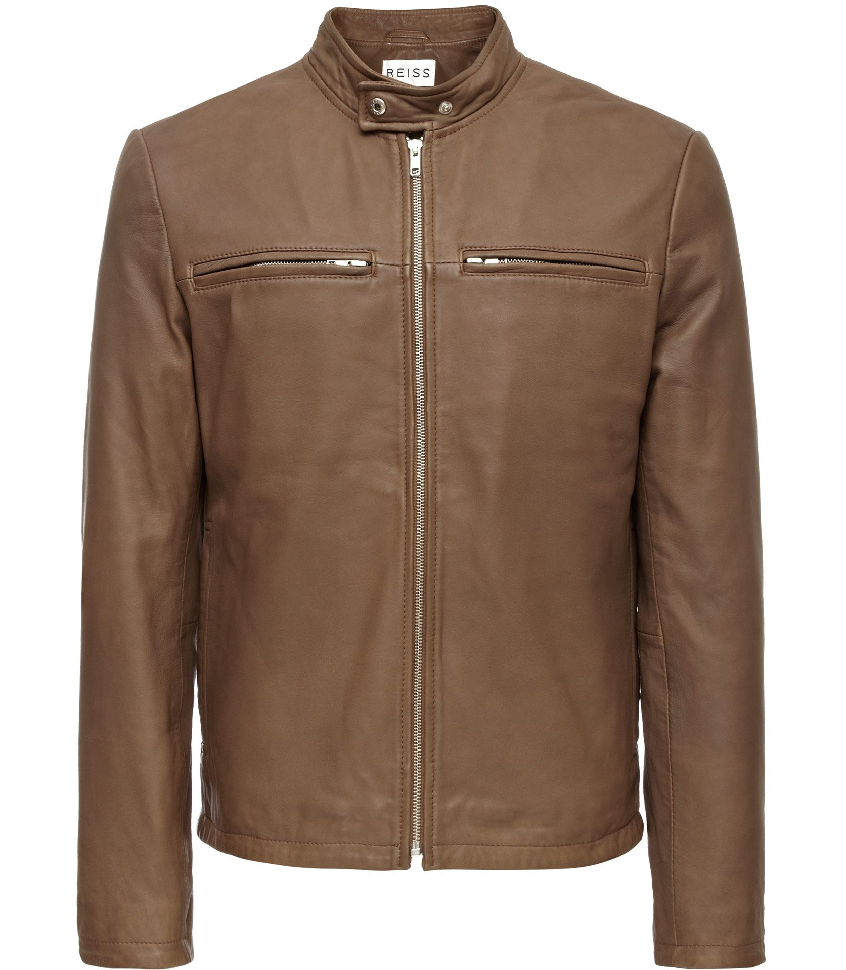 Reiss Colorado Washed Leather Biker Jacket 710 Mens Clothing Styles Mens Fashion Wear Jackets [ 1918 x 1673 Pixel ]