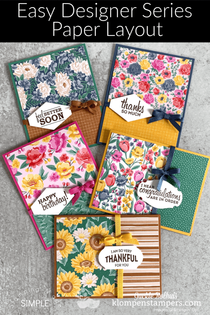 easy greeting card layout that is cute and will save the